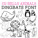 cg hello animals dingbats