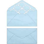 commercial envelope with scalloped liner