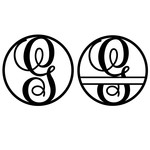 fancy monogram circle nameplate g