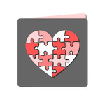 heart puzzle cut out card