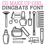cg make up girl dingbats