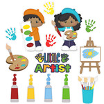 little artist school stickers