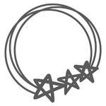 star monogram circle frame