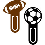 football bookmark clips