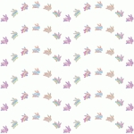 hopping bunny marbled pattern