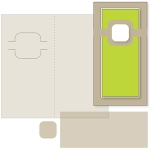 money holder card - rounded square