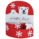 winter love polar bear bendi card