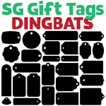 sg gift tags dingbats font
