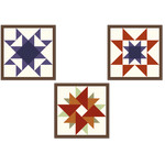 barn quilt squares three stars