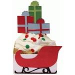 cupcake wrapper set: sleigh