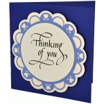 thinking of you scalloped circle card