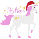 believe christmas unicorn