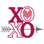 xoxo with arrow