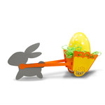 easter bunny pulling cart