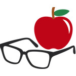 apple and glasses