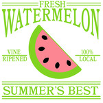 fresh watermelon sign
