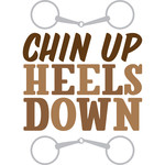 chin up heels down
