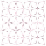 diamond background stitching template