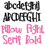 pn pillow fight serif bold