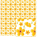 yellow flowers on white pattern
