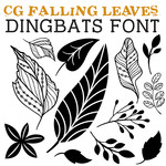 cg falling leaves dingbats
