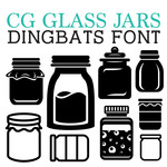 cg glass jar dingbats