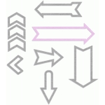 outlines arrows