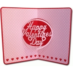 happy valentine's day pop-up card