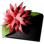 poinsettia gift card box