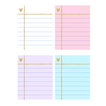 pastel note paper stickers