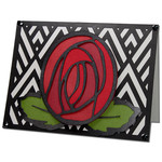 art deco rose card