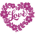 valentines love floral heart wreath
