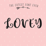 lovey solid font