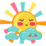 cute sun and clouds