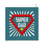 super dad cutout card