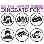 cg tiny nature scenes dingbats