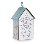 ml coloring house ornament - penguin