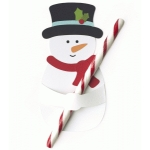 snowman candy cane treat holder