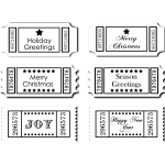 christmas sentiments- greetings tickets set 1