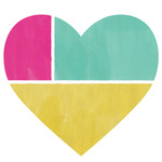 color block heart