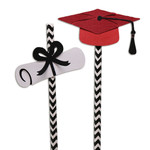 hat & diploma straw sliders