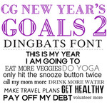 cg new year's goals dingbats