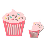 pocket / insert card - cupcake