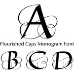 flourished capitals monogram font