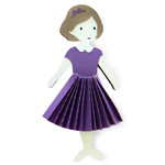 charlotte accordion dress - paper doll