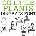 cg little plants dingbats