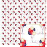red, white & blue balloon pattern