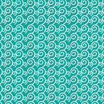waves on teal pattern