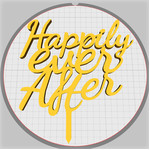 happily ever after cake stick