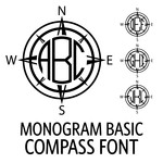 monogram basic - compass